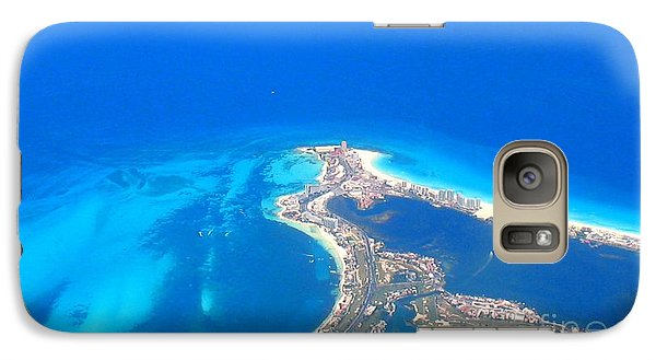 Galaxy Case featuring the photograph Aerial View Of Cancun by Patti Whitten