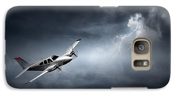 Airplanes Galaxy S7 Case - Risk - Aeroplane In Thunderstorm by Johan Swanepoel