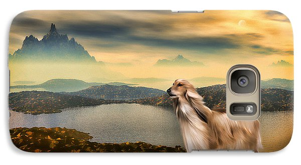 Galaxy Case featuring the painting Afghan Hound by Tyler Robbins
