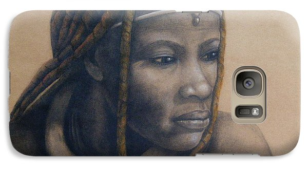 Galaxy Case featuring the pastel Afican Woman by James McAdams