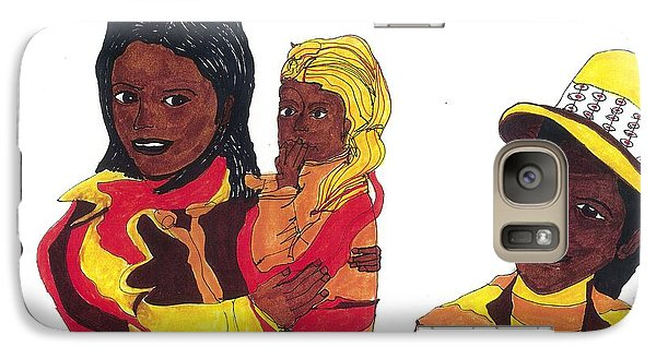 Galaxy Case featuring the drawing African-americana by Don Koester