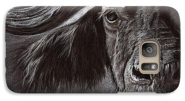 Galaxy Case featuring the drawing African Buffalo by Heidi Kriel
