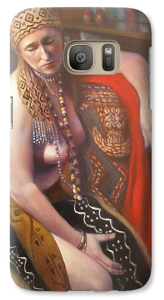 Galaxy Case featuring the painting African Drum #2 by Donelli  DiMaria