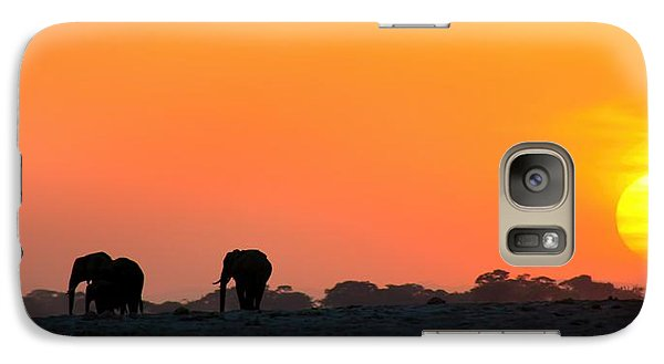 Galaxy Case featuring the photograph African Elephant Sunset by Amanda Stadther