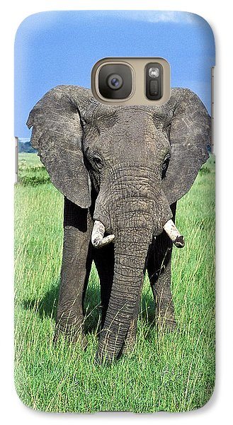 Galaxy Case featuring the photograph African Elephant by Tina Manley
