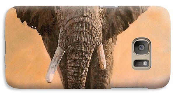 Elephant Galaxy S7 Case - African Elephants by David Stribbling
