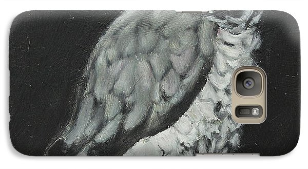 Galaxy Case featuring the painting African Grey by Jeanne Fischer