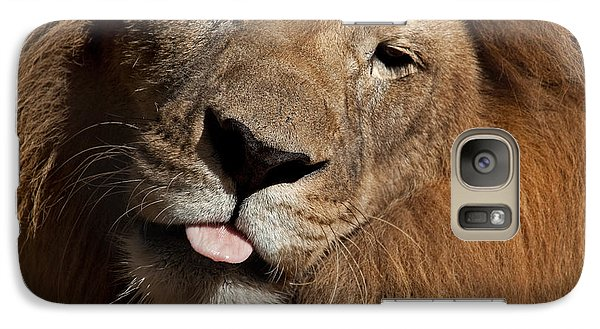Galaxy Case featuring the photograph African Lion by Meg Rousher