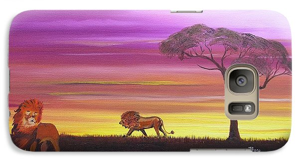 Galaxy Case featuring the painting African Lions by Barbara Hayes