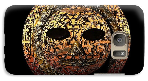 Galaxy Case featuring the digital art African Mask Series 1 by Jacqueline Lloyd