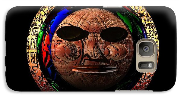 Galaxy Case featuring the digital art African Mask Series 2 by Jacqueline Lloyd