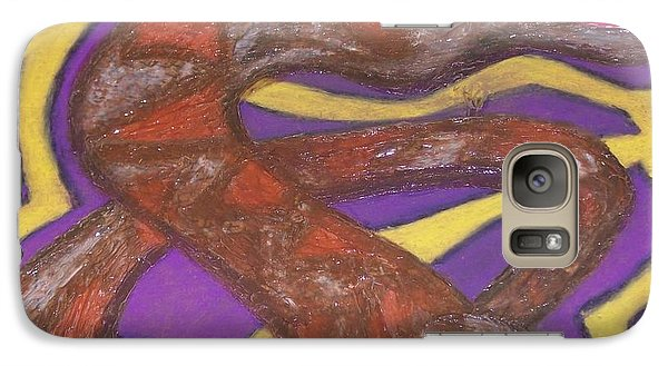 Galaxy Case featuring the painting African Snake Diety by Jonathon Hansen