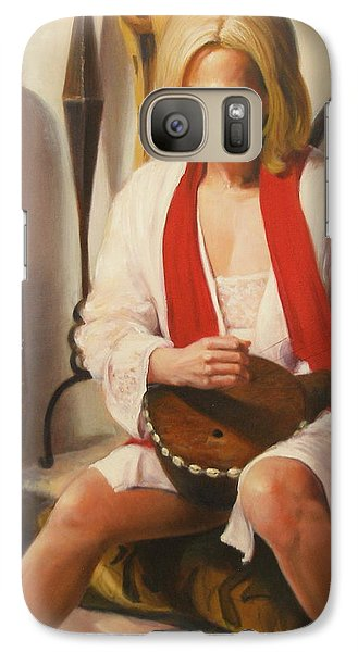 Galaxy Case featuring the painting African Strings #3 by Donelli  DiMaria