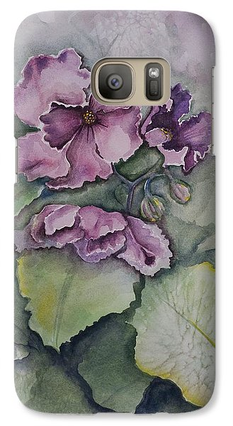Galaxy Case featuring the painting African Violets by Rebecca Matthews