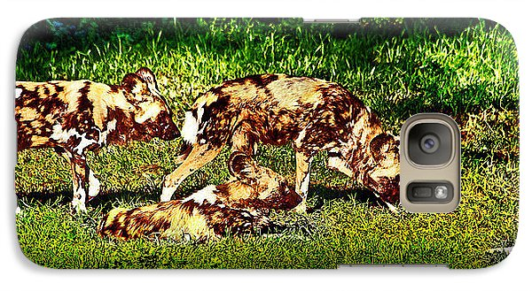 African Wild Dog Family Galaxy S7 Case by Miroslava Jurcik
