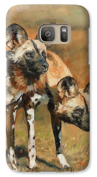 African Wild Dogs Galaxy S7 Case