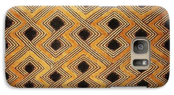 Galaxy Case featuring the digital art African Zaire Congo Kuba Textile by Vagabond Folk Art - Virginia Vivier