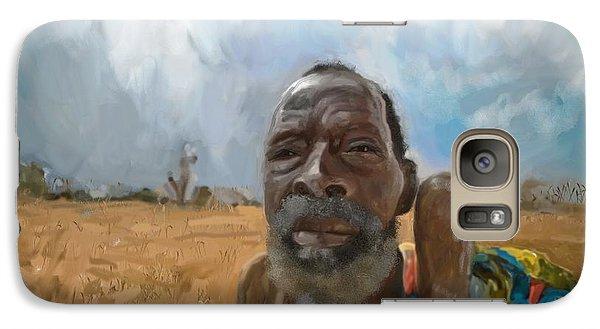 Galaxy Case featuring the mixed media Afrikan Bushman by Vannetta Ferguson