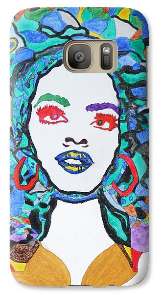 Galaxy Case featuring the painting Afro Lauryn Hill  by Stormm Bradshaw