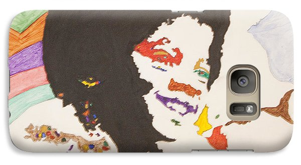 Galaxy Case featuring the painting Afro Michael Jackson by Stormm Bradshaw
