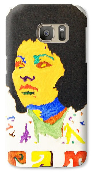 Galaxy Case featuring the painting Afro Pam Grier by Stormm Bradshaw