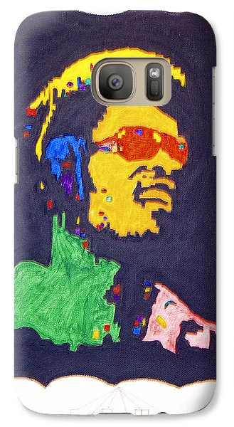 Galaxy Case featuring the painting Afro Stevie Wonder by Stormm Bradshaw
