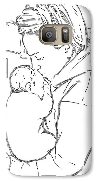 Galaxy Case featuring the drawing After A Long Journey by Olimpia - Hinamatsuri Barbu