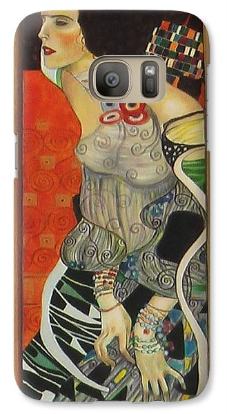 Galaxy Case featuring the painting After Gustav Klimt by Sylvia Kula