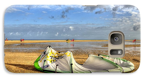 Galaxy Case featuring the photograph After Kiteboarding Session by Julis Simo
