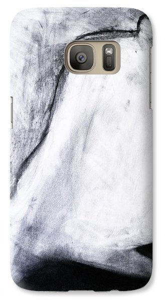 Galaxy Case featuring the drawing After Life Drawing 3 by Helen Syron