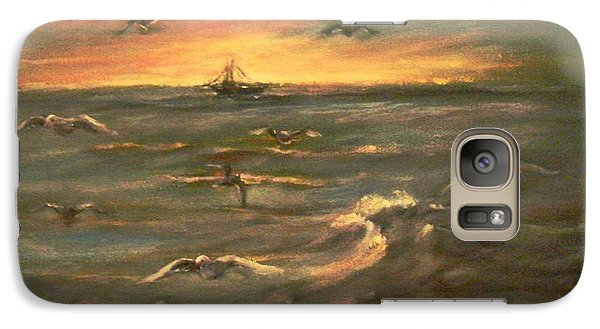 Galaxy Case featuring the painting After Sunset  by Laila Awad Jamaleldin
