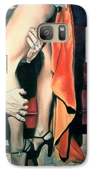 Galaxy Case featuring the painting After The Ball by Mary Ann  Leitch