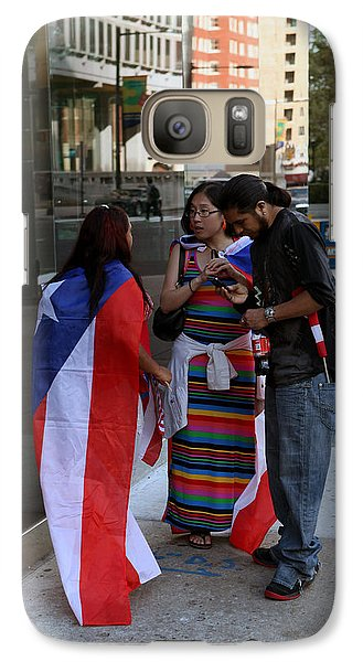 Galaxy Case featuring the photograph After The Puerto Rican Day Parade by Dorin Adrian Berbier