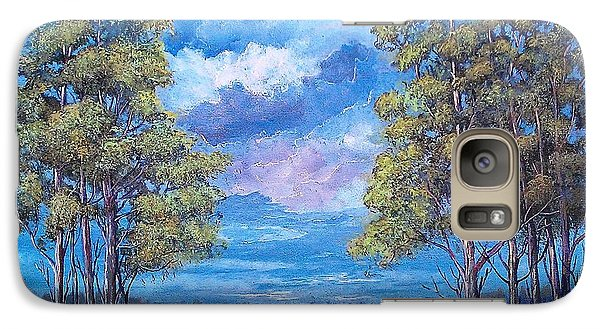 Galaxy Case featuring the painting After The Rain by Suzanne Theis