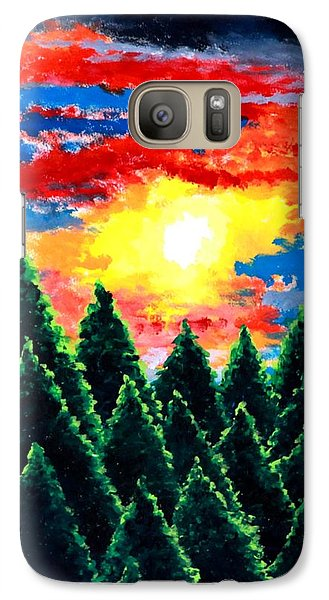 Galaxy Case featuring the painting After The Rain by Thomas Gronowski