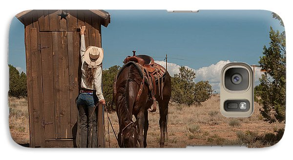 Galaxy Case featuring the photograph After The Ride by Sherry Davis