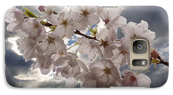 Galaxy Case featuring the photograph After The Spring Shower by Inge Riis McDonald