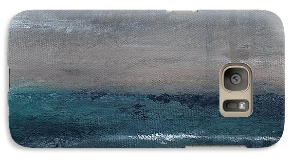 Landscape Galaxy S7 Case - After The Storm- Abstract Beach Landscape by Linda Woods
