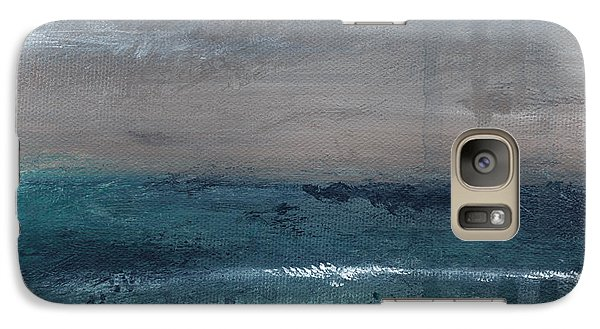 After The Storm- Abstract Beach Landscape Galaxy Case by Linda Woods