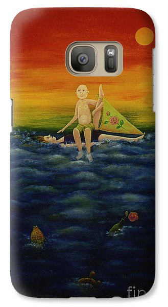 Galaxy Case featuring the painting After The Storm. by Anna Skaradzinska