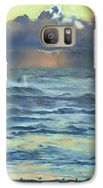 Galaxy Case featuring the painting After The Storm by Lori Brackett