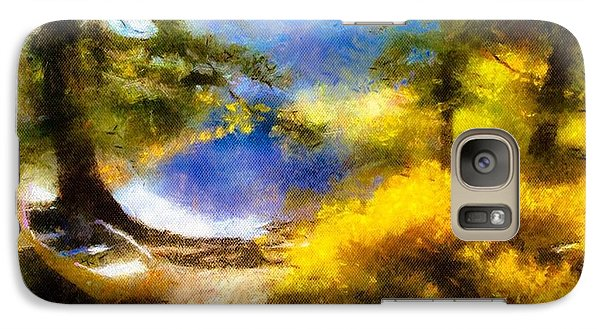 Galaxy Case featuring the painting Afternoon On The Lake by Arthaven Studios