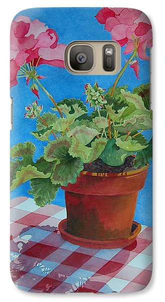 Galaxy Case featuring the painting Afternoon Shadows by Mary Ellen Mueller Legault