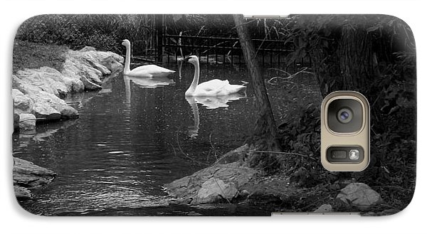 Galaxy Case featuring the photograph Afternoon Swim Bw by Elizabeth  Sullivan