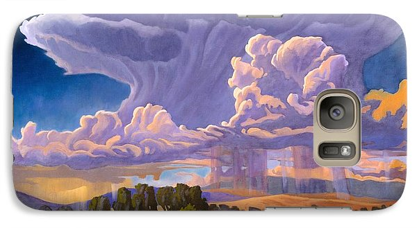 Galaxy Case featuring the painting Afternoon Thunder by Art James West