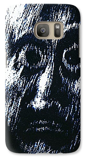 Galaxy Case featuring the drawing Age Of Fear Of Age  by Hartmut Jager