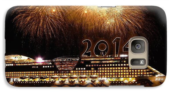 Galaxy Case featuring the photograph Aida Cruise Ship 2014 New Year's Day New Year's Eve by Paul Fearn