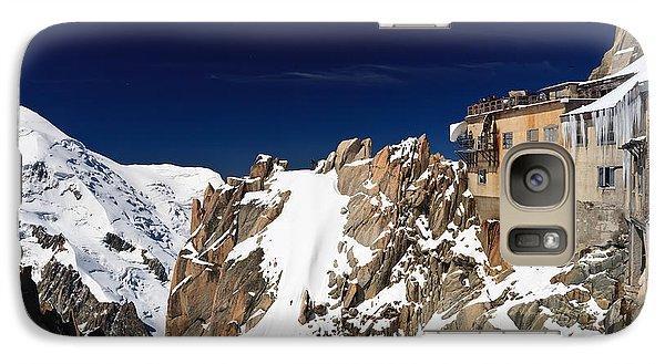 Galaxy Case featuring the photograph Aiguille Du Midi -  Mont Blanc Massif by Antonio Scarpi