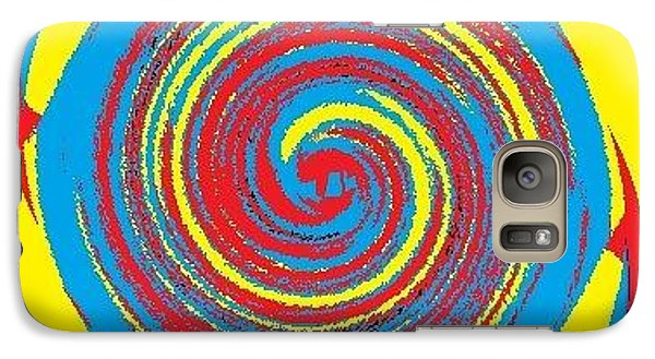 Galaxy Case featuring the digital art Aimee Boo Swirled by Catherine Lott