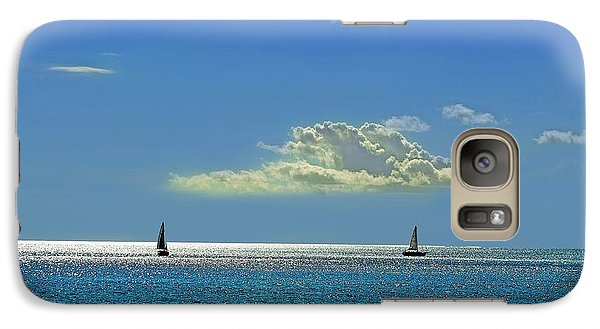 Galaxy Case featuring the photograph Air Beautiful Beauty Blue Calm Cloud Cloudy Day by Paul Fearn